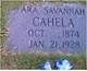 """Ara Savannah """"Ary"""" <I>Claborn</I> Cahela"""
