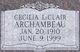 Cecilia <I>LeClair</I> Archambeau