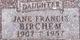 Jane Francis Birchem