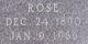 Rose <I>Kaiser</I> Birchem