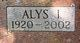 Alys Irene <I>Pons</I> Wood