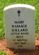 Profile photo:  Mary <I>Ramage</I> Dillard