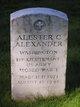 Alester C. Alexander