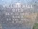 Profile photo:  William Hall
