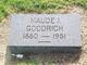 Profile photo:  Maude I Goodrich
