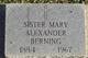 Sr Mary Alexander Berning