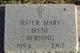 Sr Mary Irene Berning
