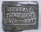 Odessa A. <I>Chidister</I> Holdridge