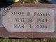 Susie <I>Burchfield</I> Baskin
