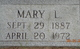 Mary L. <I>Swilley</I> Jones