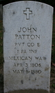 Pvt John James Patton