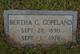 Bertha G Copeland