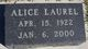 Profile photo:  Alice Laurel <I>Ferguson</I> Thayer