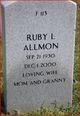 Profile photo:  Ruby Lorraine <I>Sconce</I> Allmon