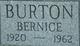 "Profile photo:  (Dorothy) Bernice ""Bunny"" <I>Boyle</I> Burton"