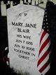 Mary Jane <I>Hill</I> Blair