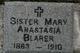 Sr Mary Anastasia Blarer