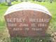 Betsey <I> </I> Hilliard