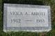 Profile photo:  Viola A. Abbott