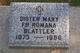 Sr Mary Fr Romana Blattler