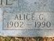 Profile photo:  Alice <I>Groves</I> Davie