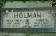 Sarah Ann <I>Mathis</I> Holman