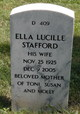 "Mrs Ella Lucille ""Luke"" <I>Sceifers</I> Stafford"