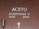 "Profile photo:  Josephine Veronica ""Jay"" <I>Sabbato</I> Aceto"