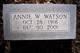 Annie W. Watson