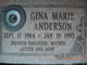 Gina Marie <I>Anderson</I> Anderson