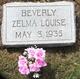 Zelma Louise Beverly