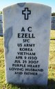 Profile photo:  A. C. Ezell