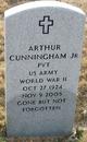 Profile photo: Pvt Arthur Cunningham, Jr