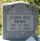 Profile photo:  Clara Bell <I>Pippins</I> Brown