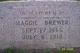 """Margaret V """"Maggie"""" <I>Looney</I> Brewer"""