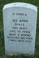 Jo Ann <I>Sceifers</I> Hall