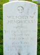 PFC Wilford Walker Hendricks
