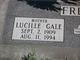 "Profile photo:  Lucille Dora ""Lucy"" <I>Gale</I> Freeman"