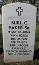 Profile photo: MSgt Burl C Baker, Sr