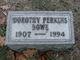 Dorothy <I>Perkins</I> Bowe