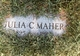Profile photo:  Julia C Maher