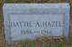 Hattie A. Hazel