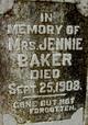 Mrs Jennie Baker