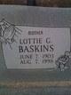 Lottie G Baskins