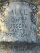 Profile photo:  Alice Catherine <I>Warren</I> Ratto