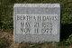 Profile photo:  Bertha Helen <I>Rathmann</I> Davis