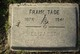 "Franklin Benjamin ""Frank"" Tade"