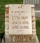 Profile photo:  Etta May Irvine