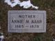 Profile photo:  Annie May <I>Edwards</I> Bahr