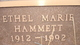 Profile photo:  Ethel Marie Hammett